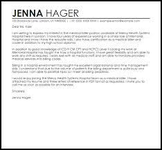 sample cover letter for a hospital job cover letters livecareer
