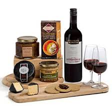 Wine And Cheese Gifts Ploughman U0027s Lunch Cheese Pate And Red Wine Hamper Gift Free Uk