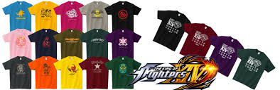 themed shirts snk launches king of fighters xiv themed t shirts on japan