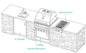 Kitchen Design Plans Outdoor Kitchen Plans Kalamazoo Outdoor Gourmet