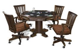 Poker Table Chairs With Casters by Convertible Santafe Poker U0026 Dining Table By Sunny Designs 1004dc