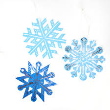 snowflake kit scratch art christmas decoration crafty crocodiles