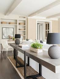 long table for living room long concrete sofa table transitional living room