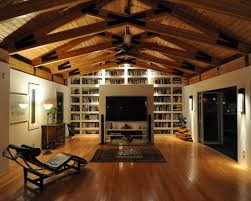 garage interior design with wooden ceiling decoration ideas in the