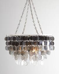 Horchow Chandeliers Ombre Capiz 2 Light Chandelier