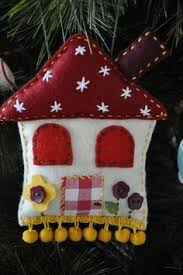 felt cottage ornaments customize to look like s house