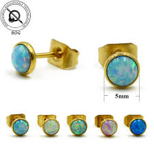 studex earrings bog new fashion gold plate opal ear tragus cartilage