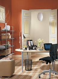 color ideas for office walls office exciting small home office interior with orange wall