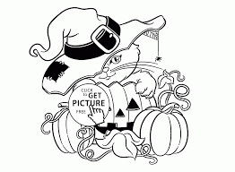 cute halloween cat and pumpkin coloring pages for kids halloween