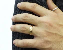 4mm wedding band wedding ring 14k yellow gold 4mm wedding band men wedding