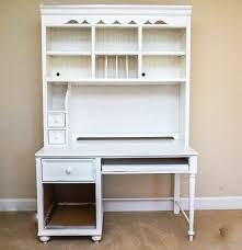 Secretary Desk Hutch by White Desk And Hutch By Stanley Furniture Ebth