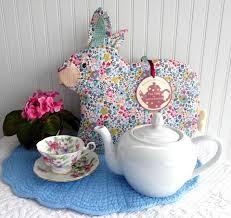 bunny tea set chintz rabbit tea cozy large cosy padded bunny shaped cozy ulster