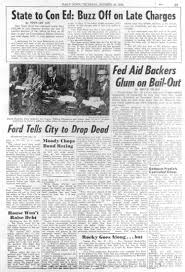 news paper writing ford to city drop dead in 1975 ny daily news new york daily news article published on october 30 1975