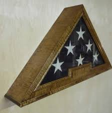 Military Flag Frame Custom Designed With Premium Figured Hard Woods Us Flag Display