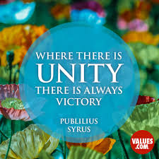 inspirational quote victory we are all in this together unity support www values com
