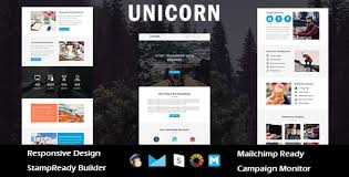 unicorn multipurpose responsive email template stampready