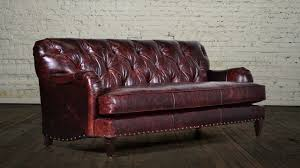 Brompton Leather Sofa Decor Nailhead Leather Sofa And Tufted Leather Sofa