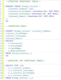how to create temp table in sql sql server story of temporary objects sql authority with pinal dave