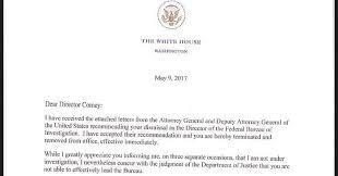 read trump u0027s bizarre letter telling fbi director james comey he u0027s