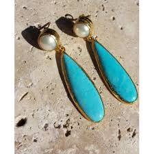 turquoise earrings and turquoise earrings