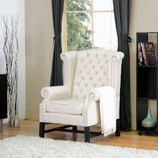 baxton studio sussex beige fabric upholstered accent chair 28862