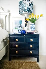 diy fabric covered nightstand navy blue diy pinterest