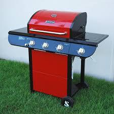 Brinkmann 6 Burner Bbq by Amazon Com Super Space 3 Burner And Side Burner Patio Garden