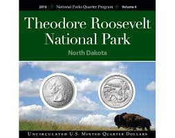 State Series Quarters Collector Map by Roosevelt National Park Quarter Collection