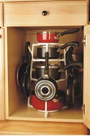 Organizing Pots And Pans In Kitchen Cabinets Kitchen Cabinet Pot Organizer Ideas On Kitchen Cabinet