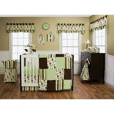 Brown Baby Crib Bedding Trend Lab Giggles 6 Crib Bedding Set Green Brown Trend