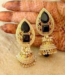 fabulous earrings fabulous black gold plated bandani jhumka earrings mahaveer pearls