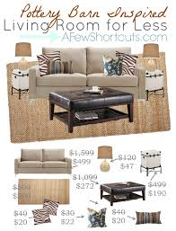 Pottery Barn Livingroom Pottery Barn Inspired Living Room For Less A Few Shortcuts