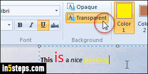 add text and change text color in ms paint