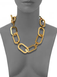 large gold link necklace images Michael kors cityscape chains large link statement necklace gold jpg