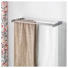 kalkgrund wall shelf with towel rail chrome plated 63x23 cm ikea