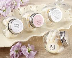 mini glass personalized favor jar set of 12 wedding favor - Wedding Favor Jars