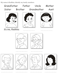 my name coloring pages my name is radhika identify my family members download free my