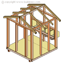 a frame roof build a chicken coop the nests and the roof frame
