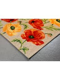 poppy blossom indoor outdoor rug cottage home
