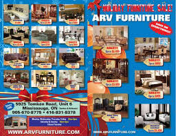 Modern Furniture Mississauga by Arv Furniture Flyers Boxing Week Sale At Arv Furniture