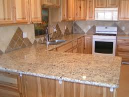 porcelain tile kitchen backsplash small u shape kitchen decoration using brown travertine tile