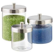 Glass Bathroom Storage Jars Glass Jars With Lids The Container Store