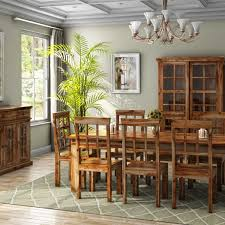 11 dining room set handcrafted rustic solid wood 11 dining room set