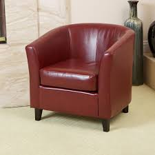 Tub Leather Chairs Amazon Com Best Selling Preston Red Club Chair Kitchen U0026 Dining
