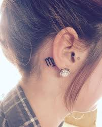 Tattoo Ideas For Behind Ear Best 25 Virgo Sign Tattoo Ideas On Pinterest Zodiac Tattoos