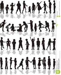 free silhouette images kids silhouettes vector illustration royalty free stock images