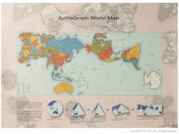 Flat World Map The U0027authagraph U0027 World Map Poster Flat Earth Without Ends 2000