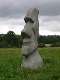 new stunning easter island moai tiki garden statue berkshire