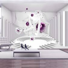 Trompe L Oeil Wallpaper by Papier Peint 3d Créant Un Effet Abstrait Et Trompe L U0027œil