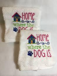 hand towel set dog home gift for her wedding gift